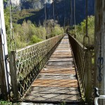 wood and metal bridge over the Brenta's river